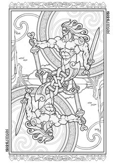 Celtic Card SymbolsCeltic ArtCeltic KnotsViking DesignsCeltic DesignsDoodle ColoringColoring SheetsAdult Coloring PagesColoring Books