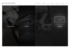 Light and Shadows #webdesign #inspiration #UI