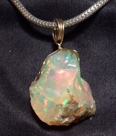 Opal love this. Raw gems are so beautiful