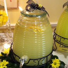 Beehive full of lemonade