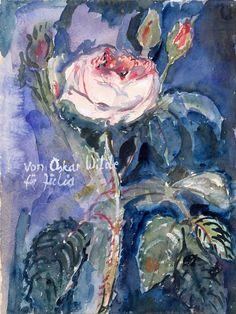 Intercepted by Gravitation | thunderstruck9:  Anselm Kiefer (German, b. 1945), Von Oskar Wilde für Julia [From Oscar Wilde for Julia], 1974. Watercolour and gouache on paper, 40 x 29.8 cm