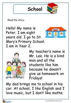 Comprehension – Page 2 – English Treasure Trove English Poems For Kids, English Activities For Kids, English Grammar For Kids, English Phonics, Learning English For Kids, English Worksheets For Kids, English Lessons For Kids, English Reading, English Language Learning