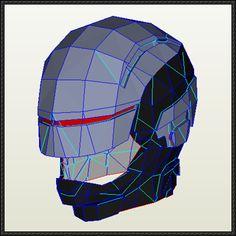RoboCop 2014 Helmet Papercraft Free Download - http://www.papercraftsquare.com/robocop-2014-helmet-papercraft-free-download.html