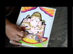 Tanjore painting tutorials by Alka  on you tube