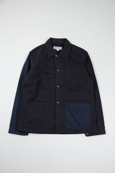 Black/Navy Combo Bedford Cord Utility Jacket | EG Workaday