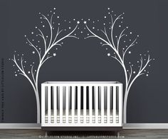 White Twinkle Tree Gate Wall Decal by LittleLion Studio. $89.00, via Etsy.