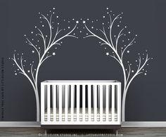 White Twinkle Tree Gate Wall Decal by LittleLion Studio. $89.00, via Etsy.