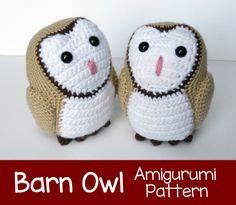 Crochet Pattern: Barn Owl Amigurumi Pattern PDF by MilesofCrochet