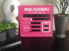 Back To School Reusable Chalk Board by RusticMarketbyNikki on Etsy