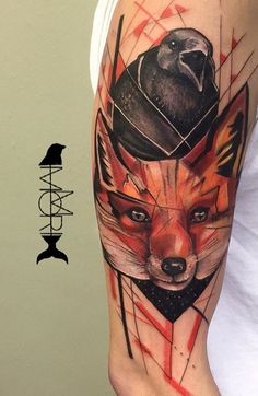 Mo Mori ink fox and Raven tattoo