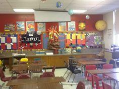 Elementary science classroom.