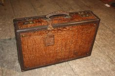 1920's Vintage Alligator Suit Case | From a unique collection of antique and modern trunks and luggage at http://www.1stdibs.com/furniture/more-furniture-collectibles/trunks-luggage/
