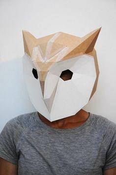Bricolage Halloween : masque en carton géométrique