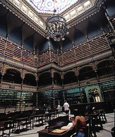 Most Beautiful Libraries in the World: Royal Portuguese Reading Room, Rio de Janeiro