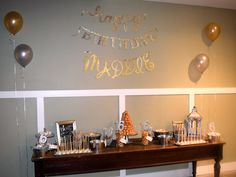 Silver and Gold Sweet 16 Dessert Table!
