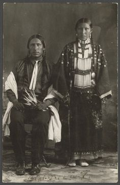 Big Bear and his wife, members of the Cheyenne, 1910