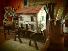 Antique - Tennessee Folk Art At It's Finest- Primitive Doll House- Circa 1890