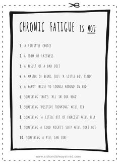 chronic-fatigue-is-not-list