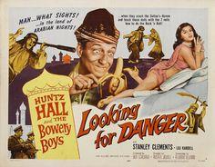 Looking for danger Huntz Hall vintage movie poster