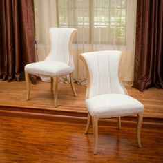 Camille Light Beige Dining Chairs (Set of 2)