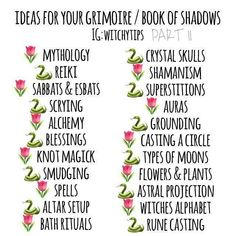 Witchy Tips : Grimoire / Book Of Shadows Wiccan Witch, Wiccan Spells, Magick, Witchcraft Books, Witches Alphabet, Witch Spell Book, Grimoire Book, Witchcraft For Beginners, Under Your Spell