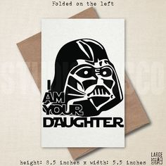 There Is No Escape  Star Wars Card  Father Card  by StudioFusco