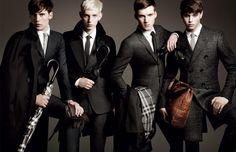 """A big trend making the rounds in men's fashion this season is the Old London Look, a combination of """"Beatles"""" inspired suits and old-school styling fused into one chic style. Burberry Prorsum, Burberry Men, Burberry Print, Burberry Trench, Trench Coats, 1920 Men, News Fashion, Fashion Men, Fashion Guide"""