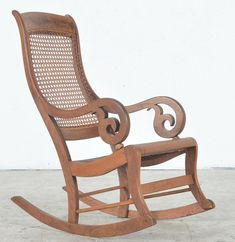 Rocking Chair With Wicker Seat And Back Round Table And Chairs, Oak Dining Chairs, High Back Chairs, Table And Chair Sets, Lamp Table, Round Dining, Rocking Chairs For Sale, Wicker Rocking Chair, Rose Gold Bedroom Wallpaper