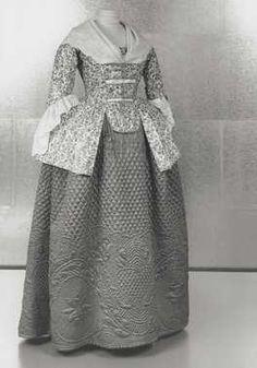 Caraco (ca. 1780) this is an amazing petticoat!