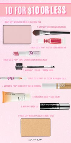 Beauty on a budget? No problem! Snag these 10 gorgeous products for $10 or less! | Marykay.con/ahagedon