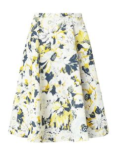 Midi-Rock mit floralem Muster Gelb - 1 Pastel Colors, Romantic, Rock, Casual, Skirts, Pattern, Style, Fashion, Casual Dressy