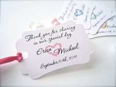 Small wedding favor tagspersonalized thank you by PaperLovePrints, $11.00