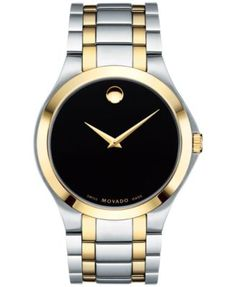 Movado Men's Swiss Collection Two-Tone PVD Stainless Steel Bracelet Watch 40mm