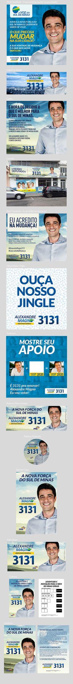 Campanha política desenvolvida para Alexandre Magno, candidato a Deputado Federal da cidade de Pouso Alegre.Eleições 2014