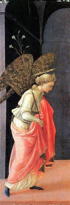 Annunciation, left wing - Filippo Lippi