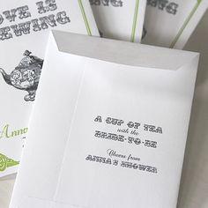 LOVE IS BREWING Par-Tea Favors™ Wedding by BushelandPeckPaper