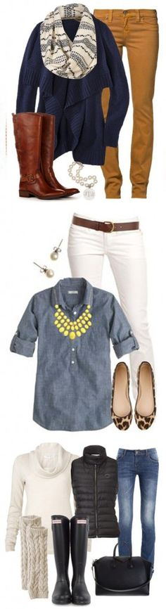 Love these fall outfits! I'd wear all of these.