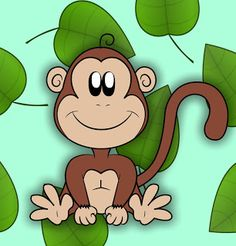 How To Draw A Cartoon Monkey ~ Draw Central