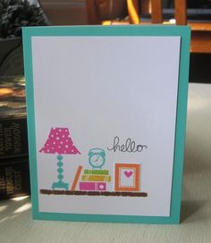 September 2014 bright shelf card by Santhony - Cards and Paper Crafts at Splitcoaststampers