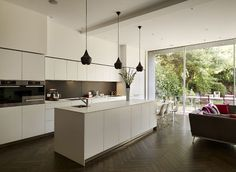 Family entertaining space and bulthaup kitchen www.bulthaupsf.com #bulthaup…
