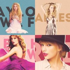 Taylor Swift, Fearless, Speak Now, Red -S