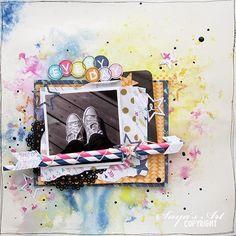 """Andrine og Marens Landhandleri - Blog - """"Everyday"""" layout by Dt Silje. Polaroid Film, Scrapbooking, Layout, Frame, Blog, Home Decor, Picture Frame, Decoration Home, Page Layout"""