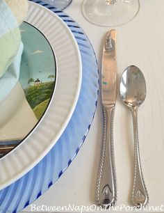 Sail Away With a Nautical Table Setting