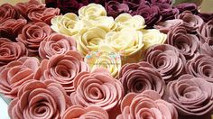 DIY Wool Felt Roses Kit - etsy shop