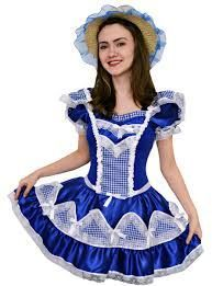 Resultado de imagem para vestido de adulto festa junina