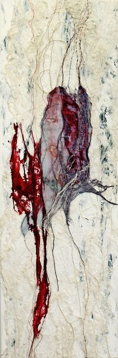 ^Sense of Healing - Maggie Ayres is a mixed media & textile artist who is passionate about texture, line and light, which she manipulates using a variety of materials, focusing primarily on natural fibres.
