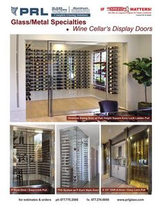 Specialty Wine Cellar Display Doors. Custom All Glass And Narrow Framed Glass  Doors For Multiple Applications Including Wine Cellaru0027s Display Doors Or  For ...