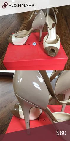 Ivanka Trump Heels Brand: Ivanka Trump, Style: Barina, Size: 7.5M, lightly worn - minor scuff on inside left heel, Color: Tan, Make an Offer!! Ivanka Trump Shoes Heels