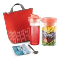 Komax Insulated Lunch Bag For Women - Cute Lunch Box Set - Waterproof Lunch Bag for Ladies (small), Reusable Salad Container Matching Water Bottle Utensils & Ice Pack - Red Image 1 of 7 Cute Lunch Boxes, Lunch Box Set, Reusable Lunch Bags, Insulated Lunch Bags, Save The Penguin, Salad Dressing Container, Thermal Lunch Bag, Salads To Go, Childrens Meals