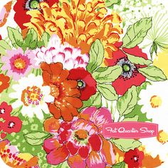 Clementine Multi Summer Floral Yardage SKU# STELLA-203-MULTI - Fat Quarter Shop
